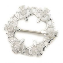 Round Thistle Brooch